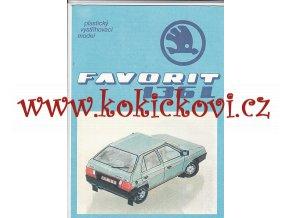 ŠKODA Favorit 136 L - plastikový vystřihovací model - kresby Michal Antonický Pressfoto