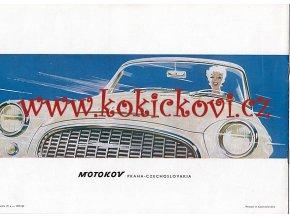 1961 ŠKODA FELICIA KABRIOLET ORIG. MOTOKOV BROŽURA 8 STRAN FRANTIŠEK KARDAUS