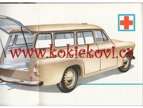 1961 ŠKODA 1202 DODÁVKA, Pick-Up, SW, SANITKA - ORIG. PROSPEKT A4