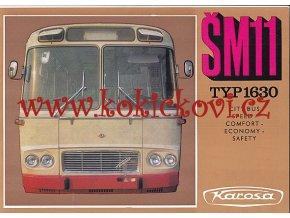 Autobus Karosa ŠM 11 - 8 STRAN A4 - Reklamní prospekt městský - text AJ