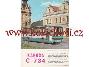 KAROSA C 734 MEZIMĚSTSKÝ AUTOKAR - PROSPEKT A4