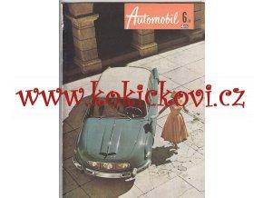 ČASOPIS AUTOMOBIL ČÍSLO 6/1958 - TATRA 603 - REKLAMNÍ OBÁLKA