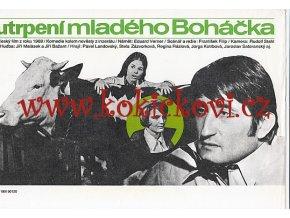 FILM UTRPENÍ MLADÉHO BOHÁČKA - PAVEL LANDOVSKÝ - REKLAMNÍ PLAKÁT DO VÝLOHY BIOGRAFU - RETRODÁREČEK