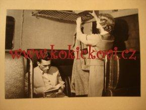 Vagonka - album polokožená vazba - ochranné pouzdro - rozměry 16*11 cm