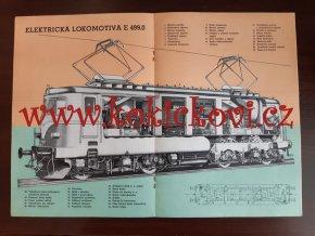 UNIVERSÁLNÍ ELEKTRICKÁ LOKOMOTIVA ŘADY E 499.0 ZÁVODY V.I. LENINA 1956 REKLAMNÍ PROSPEKT