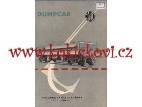 4nápravový oboustranně výklopný vůz Dumpcar reklamní prospekt 196?