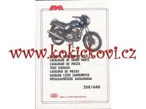 JAWA 350 / 640 - 1993 - KATALOG NÁHRADNÍCH DÍLŮ
