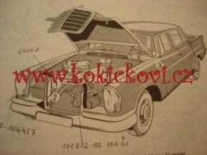 MERCEDES-BENZ TYPE 220b - 220Sb KATALOG D 1965 SEZNAM DÍLŮ 4JAZYČNÝ