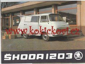 ŠKODA 1203 DODÁVKA - PROSPEKT - AZNP Mladá Boleslav, závod Vrchlabí