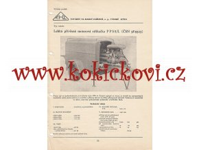 LEHKÁ PŘÍVĚSNÁ MOTOROVÁ STŘÍKAČKA PPS8/L KATALOGOVÝ LIST A4
