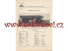 TRAKTOROVÝ PŘÍVĚS T5 P KATALOGOVÝ LIST A4