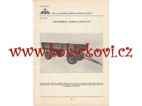 AUTOMOBILOVÝ VALNÍKOVÝ PŘÍVĚS A3V KATALOGOVÝ LIST A4