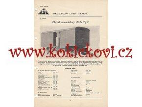 OBYTNÝ AUTOMOBILOVÝ PŘÍVĚS T5U V KATALOGOVÝ LIST A4