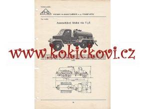 AUTOMOBILOVÝ FEKÁLNÍ VŮZ V 3S - KATALOGOVÝ LIST A4