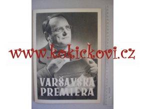 Varšavská premiéra 1950 - POLSKÝ FILMOVÝ PLAKÁT - PO ROZLOŽENÍ FORMÁT A2