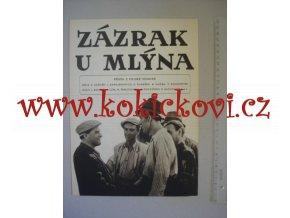 Zázrak u mlýna 1952 - POLSKÝ FILMOVÝ PLAKÁT - PO ROZLOŽENÍ FORMÁT A3