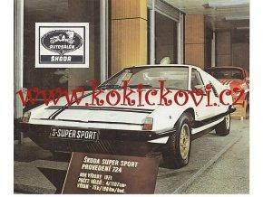 Škoda PROSPEKT - AZNP MLADÁ BOLESLAV 197? - Škoda 110 Super Sport - ŠKODA 110 R