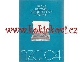GRAMOFONOVÝ PŘÍSTROJ NZC 041 - NÁVOD K ÚDRŽBĚ - A4 CCA 20 STRAN