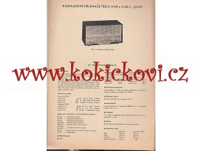 RADIO TESLA 314B A 314B - 5  - LUNÍK - NÁVOD K ÚDRŽBĚ - A4 CCA 20 STRAN