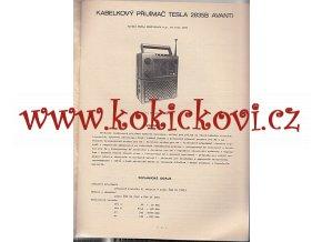 KABELKOVÝ PŘIJÍMAČ TESLA 2835B AVANTI - NÁVOD K ÚDRŽBĚ - A4 CCA 14 STRAN