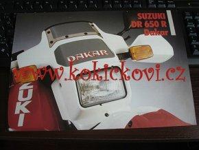 DAKAR DR 650 R DAKAR - REKLAMNÍ PROSPEKT - TEXT NĚMECKY - 4 * A4
