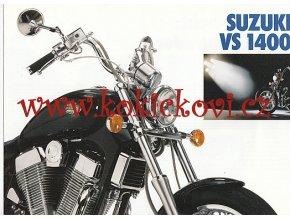 SUZUKI VS 1400 - REKLAMNÍ PROSPEKT - TEXT NĚMECKY - 4 * A4