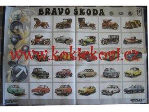 Škoda, Laurin a Klement - Bravo Škoda - plakát - Motokov - 95*66 CM