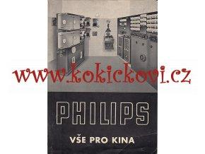 PHILIPS PRO KINA - REPRODUKTORY - ZESILOVAČE - PROMÍTAČKY - REKLAMNÍ PROSPEKT 193?