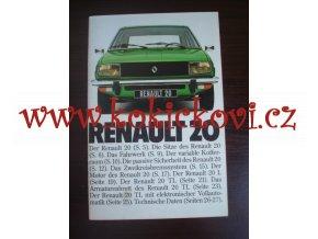 Renault 20 - prospekt - 28 stran - text německy, četné fotografie