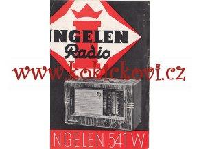 RADIO LETÁK INGELEN 541 W RADIO - REKLAMNÍ LETÁK A5