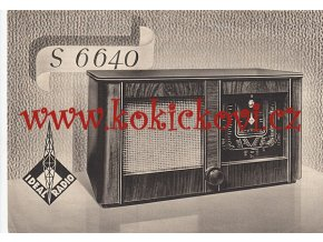 RADIO LETÁK IDEAL RADIO S 6640 - REKLAMNÍ LETÁK A5