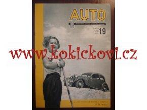 ČASOPIS AUTO Č.19/1936 KOMPLETNÍ VČETNĚ OBÁLKY BEZ NATRŽENÍ
