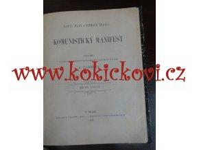 Komunistický manifest - 1898 - Karel Marx - Bedřich Engels - 2. české vydání