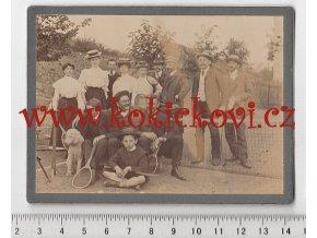 TENISOVÝ KLUB BLANSKO - PRASTARÁ ORIGINÁLNÍ FOTOGRAFIE Z ROKU 1907