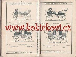 JACOB LOHNER - LUXUSWAGEN - VOITURES DE LUXE - FINE CARRIAGES - KATALOG VÝROBKŮ PLUS OSOBNÍ DOPIS JACOBA LOHNERA 1899