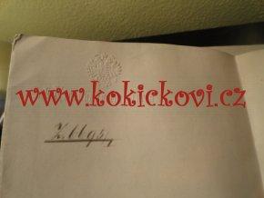 1896 Zvíkovec Eisenbahn železnice - Rokycany Křivoklát - s vlastním podpisem ministra železnic Emila von Guttenberga