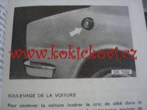 ŠKODA 105 S - 1050 L - 120 L -120 LS NÁVOD K OBSLUZE A ÚDRŽBĚ FRANCOUZSKY