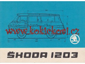 ŠKODA 1203 VAN - ROL - COM - TECHNICKÁ DATA - 6 STRAN A5 REKLAMNÍ PROSPEKT