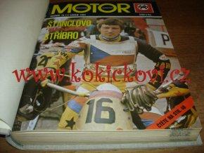 ČASOPIS MOTOR 1984 - KOMPLETNÍ SVÁZANÝ ČASOPIS - 12 ČÍSEL VČETNĚ OBÁLEK