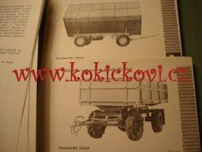 Katalog zemědělských mechanizačních prostředků díl 2 - 1973 uvnitř přívěsy aviz foto