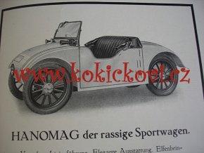HANOMAG KLEIN AUTO - HANOMAG NACHRICHTEN AUGUST JANUAR 1927 HEFT 159  2/10 PS