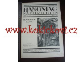HANOMAG NACHRICHTEN APRIL MAI 1926 HEFT 150-151