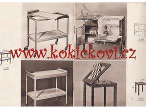 REKLAMNÍ THONET KATALOG Č. 3540 - CCA 1935 - STOLKY LAMPY - KŘESLA VĚŠÁK