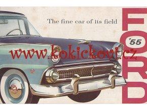 REKLAMNÍ PROSPEKT FORD 1955 - CCA A4 - 24 STRAN - TEXT ANGLICKY - CAR BROCHURE