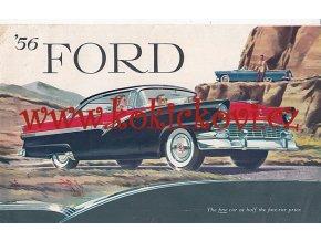 REKLAMNÍ PROSPEKT FORD 1956 -  8 STRAN - TEXT ANGLICKY - CAR BROCHURE