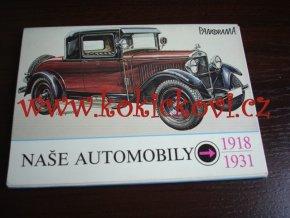 Naše automobily 1918 - 1931 Ilustroval Václav Zapadlík - kompletní set pohlednic