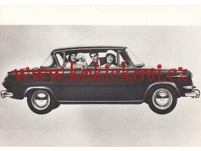 Novinky autosalonů 1966 - fotografie - Wolkswagen, Ford, Peugeot, BMW, DKW - Audi, Škoda 1000 MBX, Chevrolet