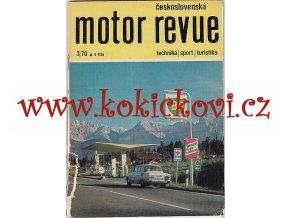 MOTOR REVUE 3/1970 - A5 - 40 STRAN TEXT ČESKY - OBÁLKA NATRŽENA