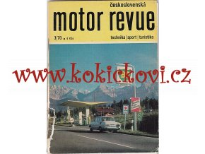 MOTOR REVUE 4/1970 - A5 - 40 STRAN TEXT RUSKY