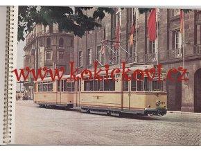 REKLAMNÍ BROŽURA TRAMVAJ STRASSENBAHN Gothawagen T57 VEB WAGGONBAU - DDR - DRESDEN - POTSDAM